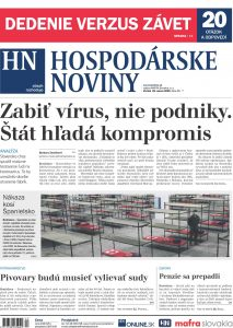 certifikat bisnode 2020 v HN novinach - pastorkalt a.s.